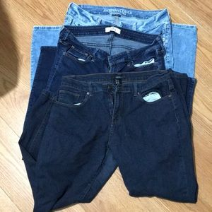 3 pants sizes forever 21 31 hollister 11r